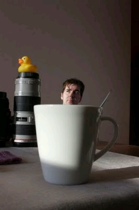 Forced perspective photography :-) I just had an idea... thumbelina :-)