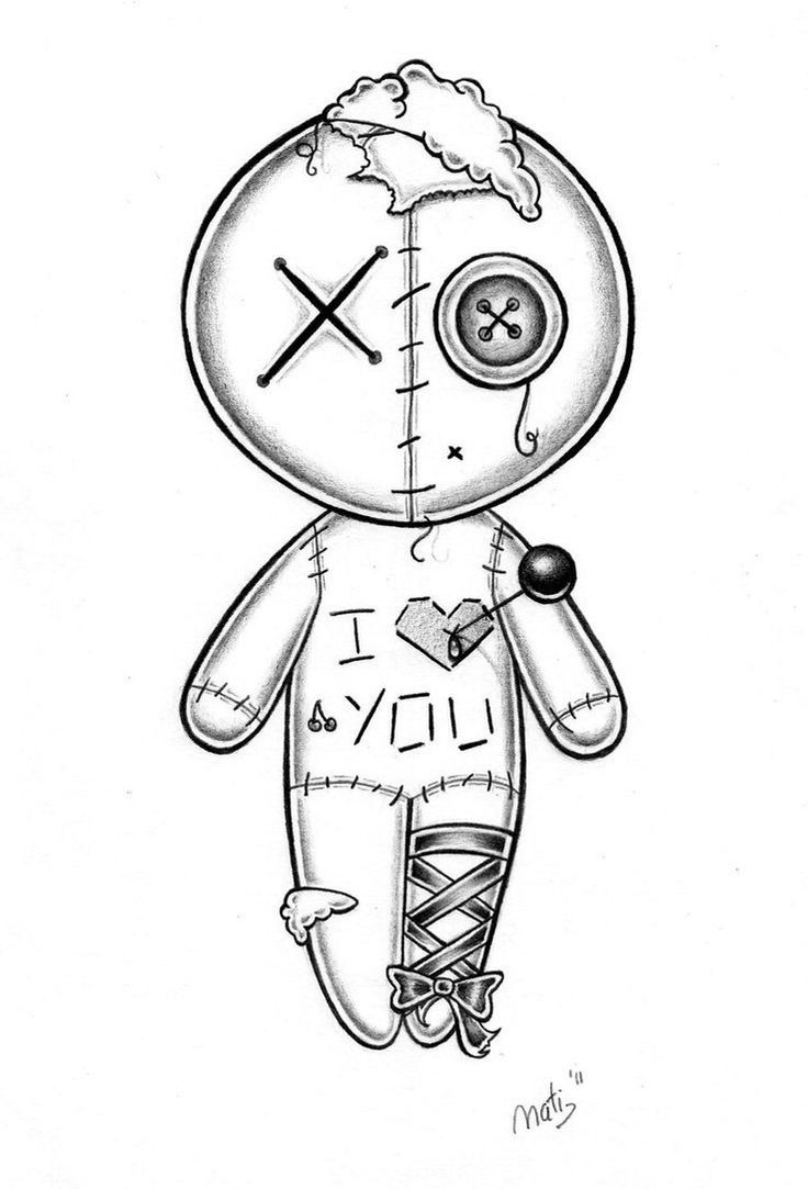 Stitched Stuffed Doll Coloring Pages Dark Art Drawings Scary Drawings Doll Drawing