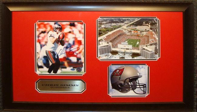 Encore Select Chris Simms Autographed Framed Photograph
