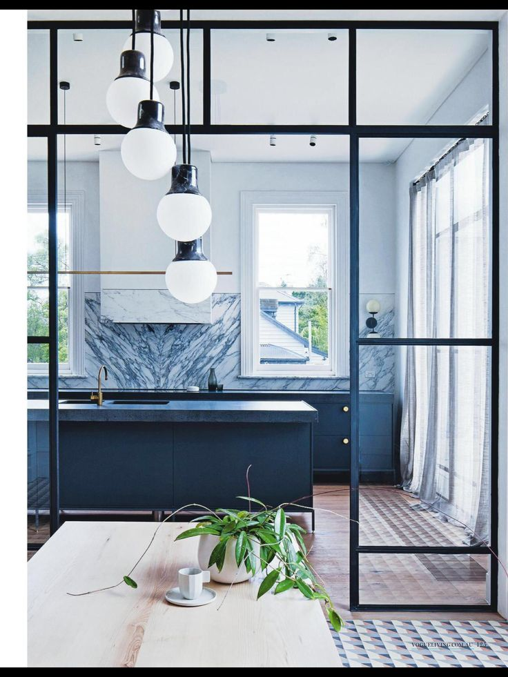 #kitchen #glasswall