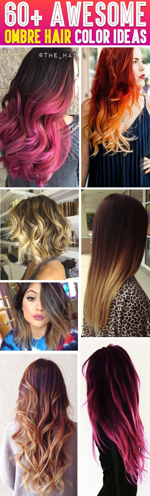 60 Awesome Ombre Hair Color Ideas To Try At Home! - Here you will find more than 60 Different Ombre Hair Color ideas and techniques: #ombre#hair#color