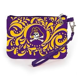 Stadium Approved East Carolina University wristlet. Our adorable wristlet is a must have gameday accessory. Keep your cell phone handy and your ID visible as you breeze through the security gate to cheer on your team! Fits iphone 5,6 and 7. #gamedayready #shopdesden