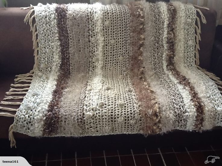 Mejores 7 imágenes de crochet throws I make en Pinterest   Cobija ...