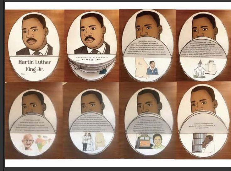 """Martin Luther King Activities: """"Flip the Flap For Facts"""" Martin Luther King booklet. Comes in BW for students. The one pictured is the full color teacher's edition with factual information."""