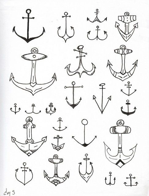 Vintage Anchor illustrations//