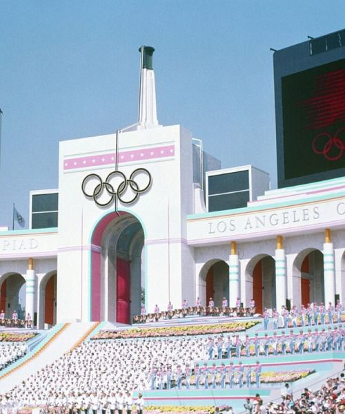 1984 Summer Olympics • Los Angeles … Opening Ceremony at the Coliseum