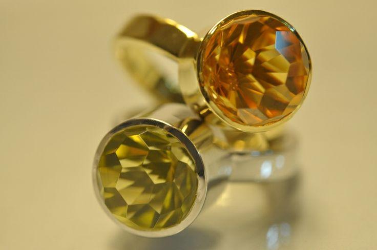 18kt ringen met groene amethist en citrine - Juweliers Claessens, Collecties 2014