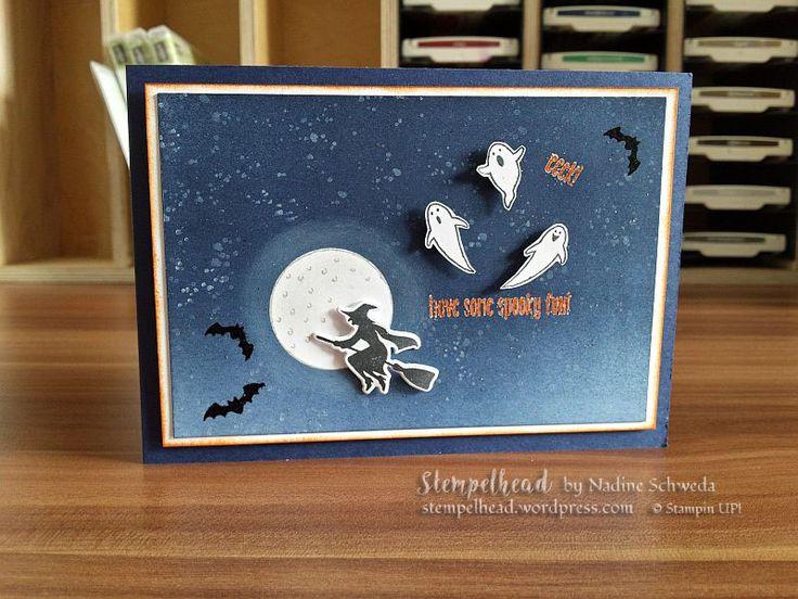 Stampin UP! Karte zu Halloween. Stempelset Spooky Fun aus dem neuen Herbst/Winterkatalog 2016/2017 von Stampin UP