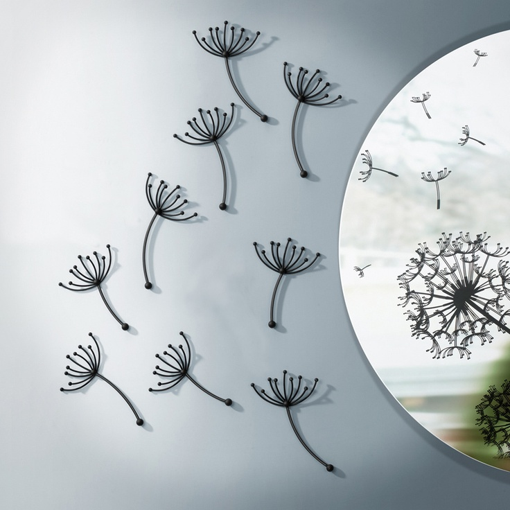 Umbra Pluff Wall Decor Set Of 9 : Best wall art images on dandelions