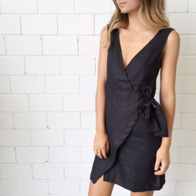 Sir The Label India Wrap Dress- Black