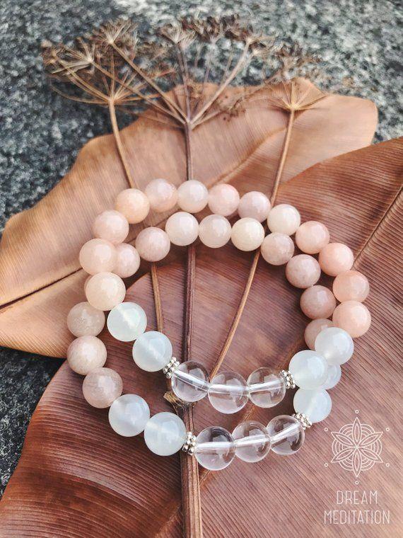 Moonstone Bracelet REIKI Healing Gemstone FEMININE HORMONES 925 Sterling Silver