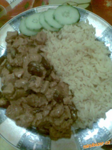 Sojové maso na smetaně s rýží