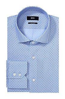 Regular fit business shirt 'Gordon' with a reinforced shark collar, Dark Blue