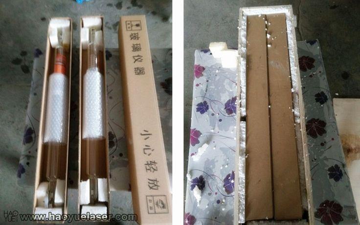 40W laser tube packing details. Specs: length 700mm, dia 50mm.  #40wlaser #glasstube #lasertube #co2laser #laserengraver