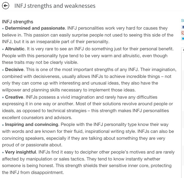 types of strengths and weaknesses