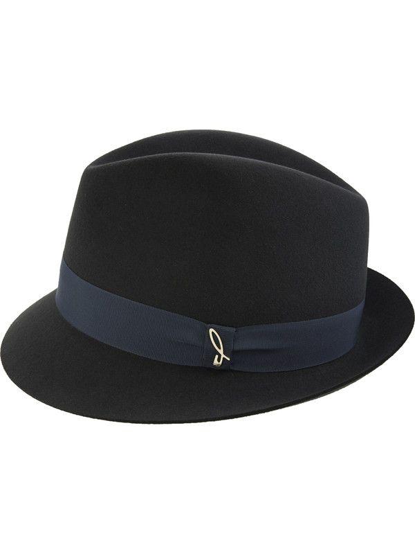 Trilby elegant black man woman hat Doria 1905