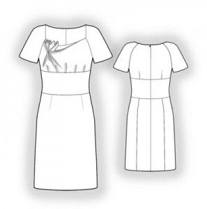 Free sewing patterns... I don't know about the neckline but I like the small darts/pleats above midriff