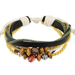 Плетеный браслет SPIKES SL0162-WH