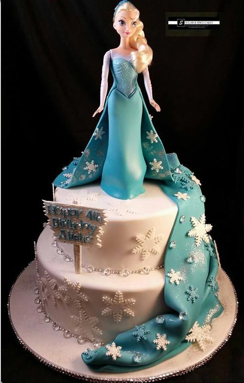 Elsa cake from the movie Frozen