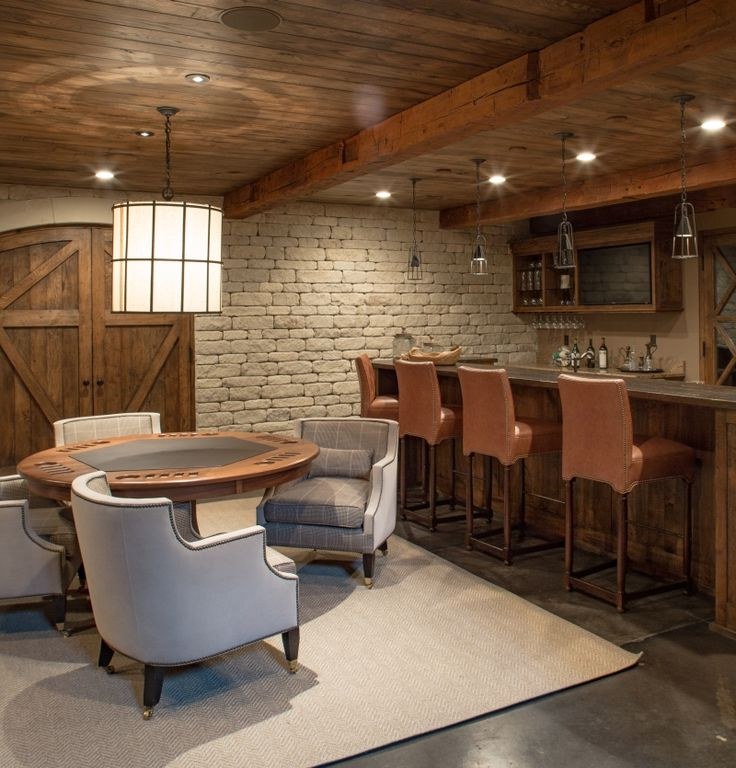 Best 25 finished basement bars ideas on pinterest for Rustic finished basement