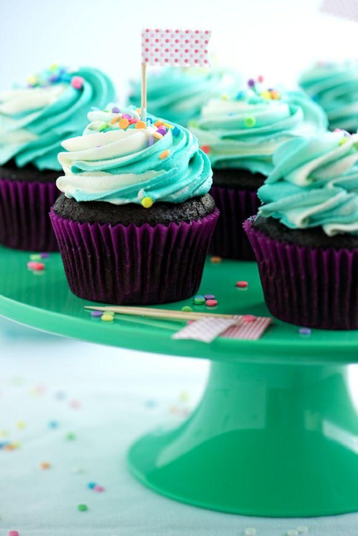 1001 id es cr atives pour un gla age cupcake gateau - Deco pour cupcake ...