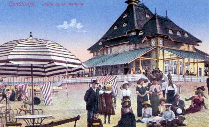 Mamaia - Gara si plaja - 1912