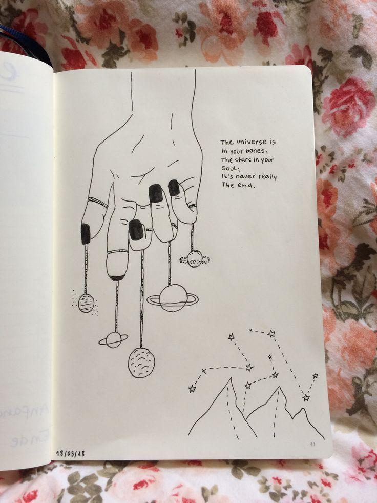 Das Universum ist in deinen Knochen, der Teil in deinem …
