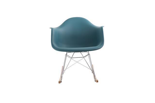 Ayaans High Quality Contemporary Rocking Chair Tea Green Nursery Armchair PC802R