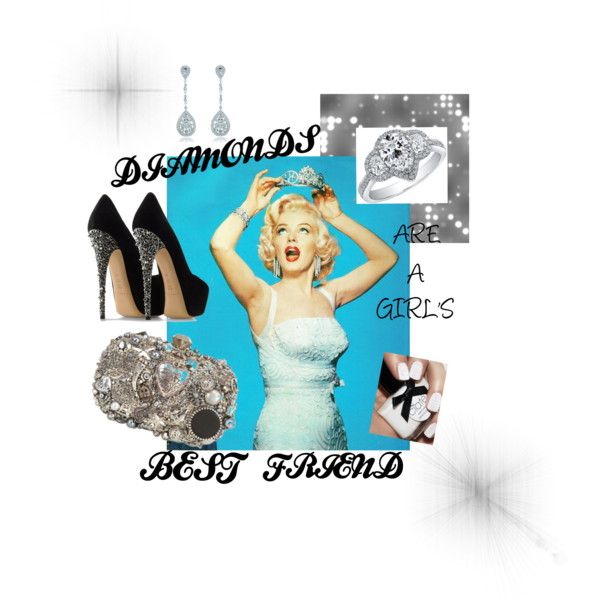 """Diamonds are a girl's best friend"" by rachel-obrien on Polyvore"