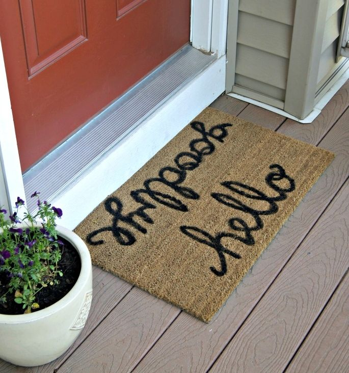 Take inspiration from these 15 creative DIY projects and make your own customized doormat for your home.