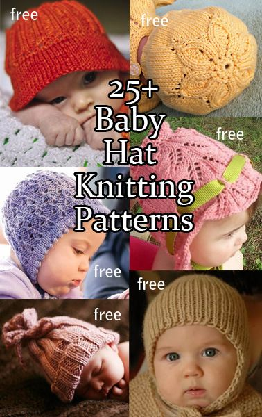 Free Baby Hat Knitting Patterns at http://intheloopknitting.com/baby-hat-knitting-patterns/