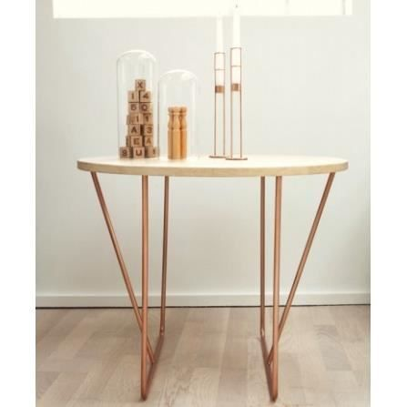Table Basse Design en Bois et Cuivre Preciosité… - Achat / Vente table basse Table Basse Design en Bois et - Cdiscount