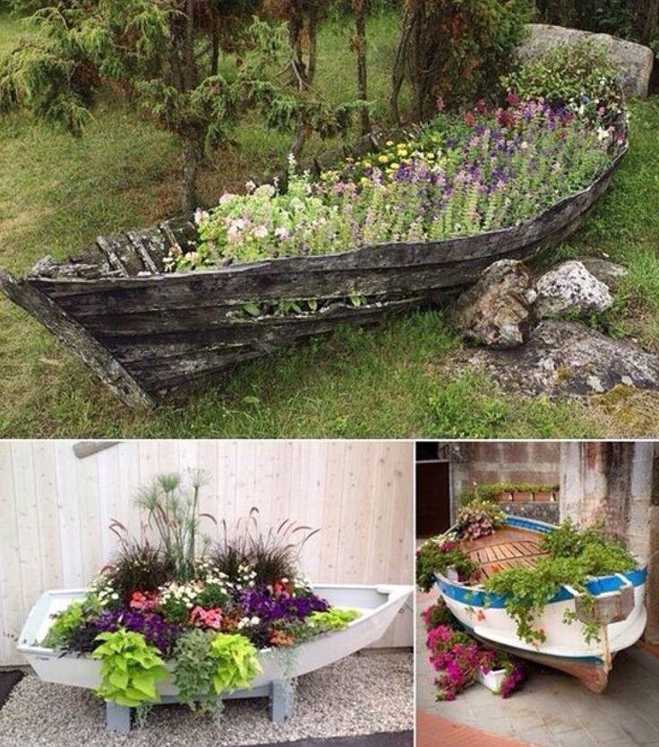 15 Stunning Container Vegetable Garden Design Ideas Tips: 45 Best Boat Planter Images On Pinterest