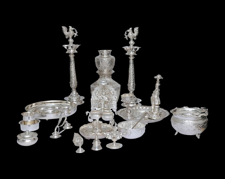 Nathella   Collections   silver   Pooja Set