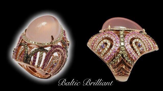 Diamond Ring in 18K Rose Gold #rosegold #diamondring #jewelry