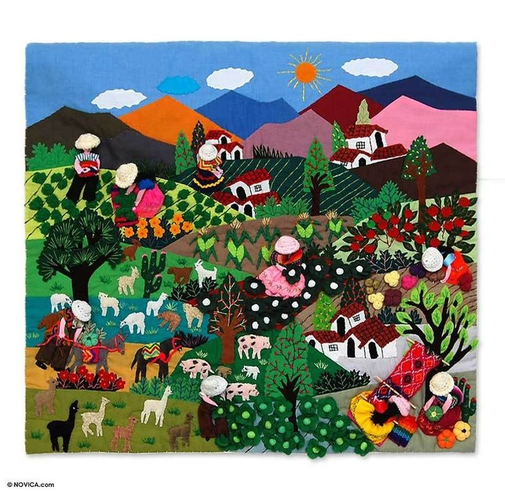 Peruvian folk art... so colorful