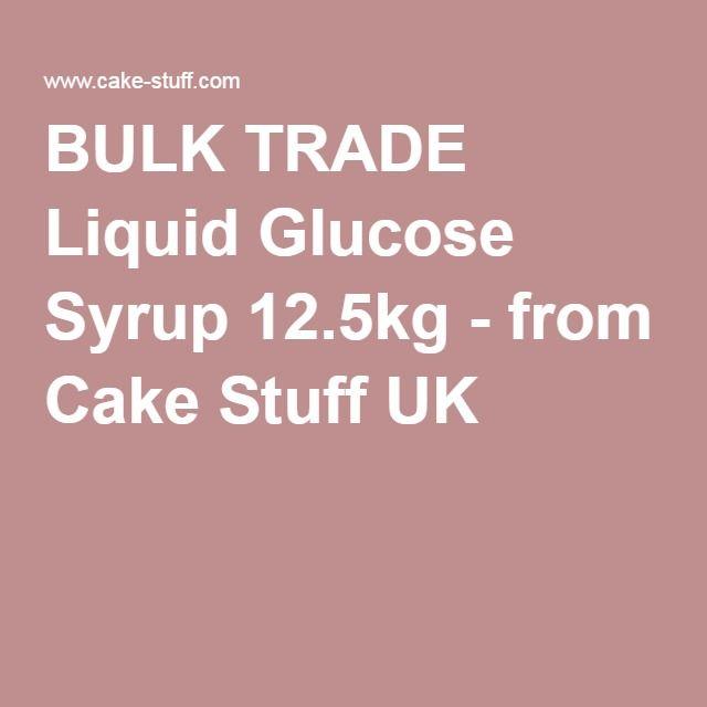 To make marshmallows - BULK TRADE Liquid Glucose Syrup 12.5kg - from Cake Stuff UK