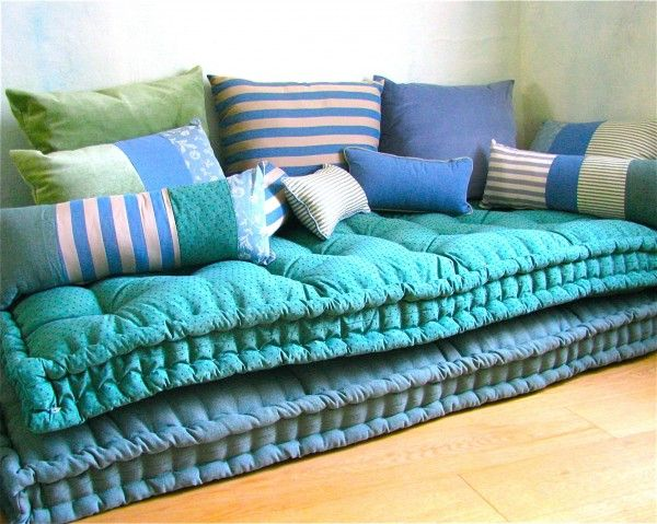 """carlotta oddones http://www.officinadellinvisibile.it/ another use for those handmade """"mattresses"""""""
