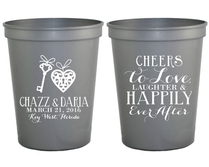 New to SipHipHooray on Etsy: Cheers to Love Laughter Wedding Cups Personalized Wedding Favors Bridal Shower Favors Rehearsal Dinner Favors Cheers Wedding Cups 1250 (75.00 USD)