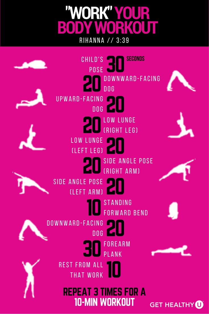 This is a 3-minute yoga workout to Rihanna's Work. If you liked this workout…
