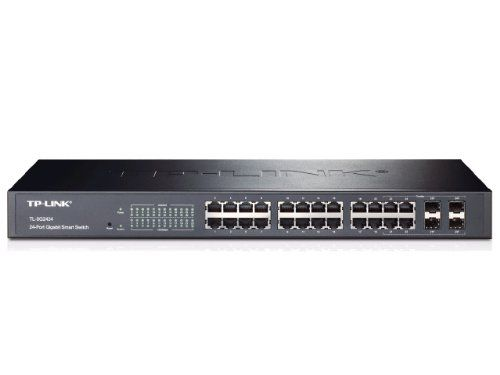 BUY NOW TP-LINK TL-SG2424 24-Port Gigabit Smart Switch with 4 Combo SFP Slots, 802.1Q VLAN, L2/L3/L4 QoS, IGMP Snooping, Port Security, Storm