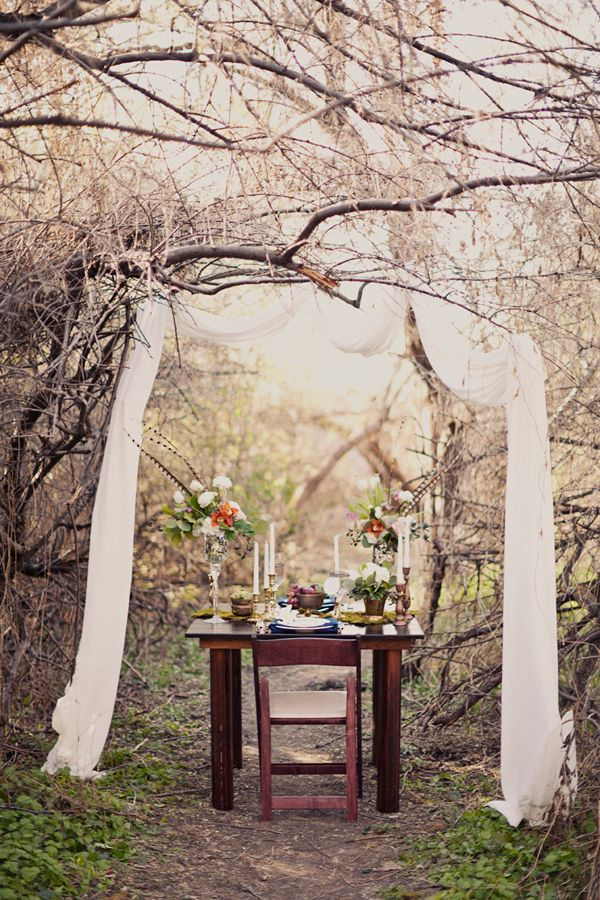 Hidden Forest Wedding Ideas- awesome seating for the bride and groom... so romantic!