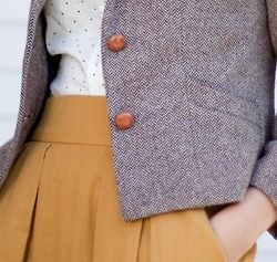 Her Paperweight. I love the color combination and the subtle polka dots