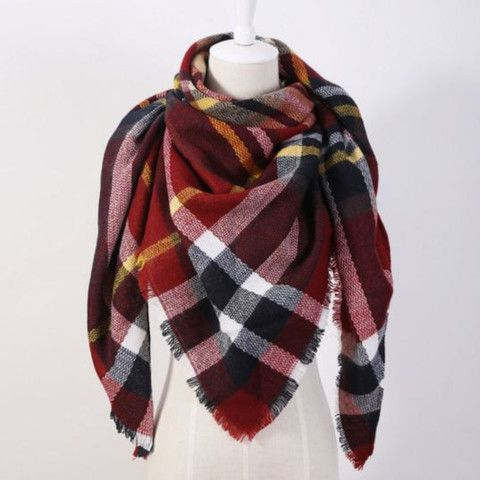 Plaid Fringe Scarf For Women | Daisy Dress for Less | Women's Dresses & Accessories