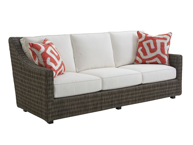 Best Short Sofa Lexington Home Brands Outdoor Wicker 400 x 300