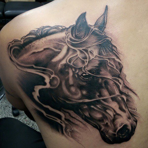 horse tattoo on back - 40 Awesome Horse Tattoos  <3 <3