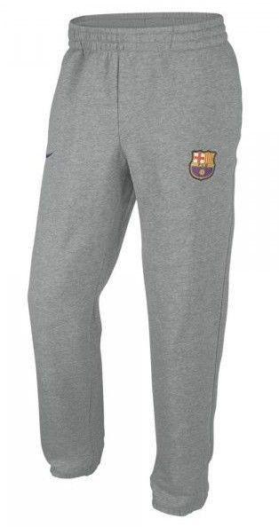 NIKE FC BARCELONA CORE FLEECE SOCCER PANTS Gray.