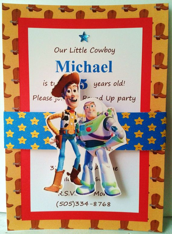 Toy Story Invitations 12 by TLZDesigns on Etsy, $20.00