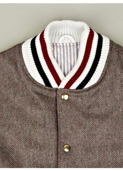tweed herringbone varsity jacket FAB!