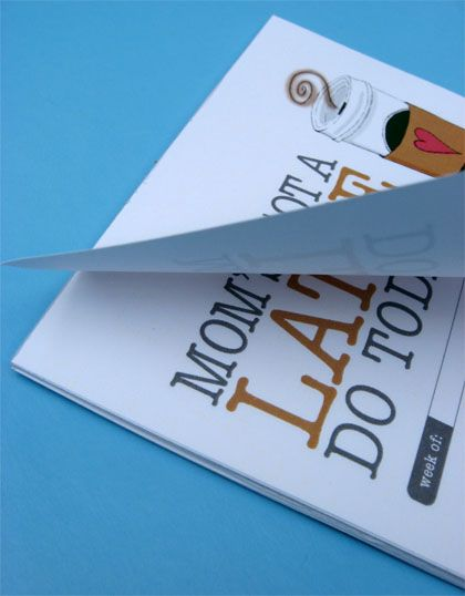DIY ~ How to make a notepad ~ Great way to use up all those small pieces of paper. Quick and inexpensive.